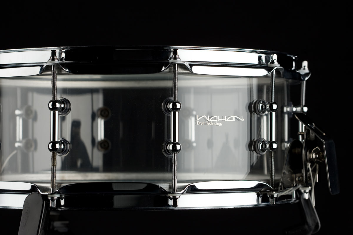 frosted acrylic snare w clear stripes and a little light show images frompo. Black Bedroom Furniture Sets. Home Design Ideas